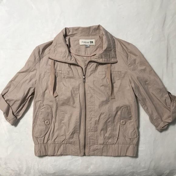 Forever 21 Khaki Moto Jacket